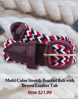 Multi-Color Stretch Belt