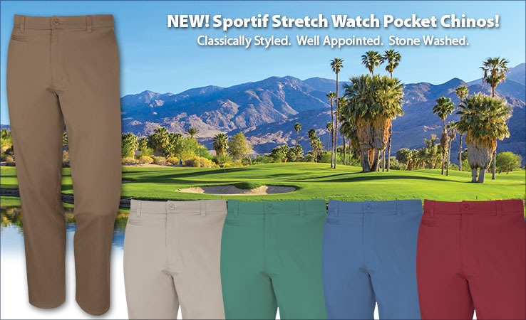 Sportif Stretch Watch Pocket Chinos