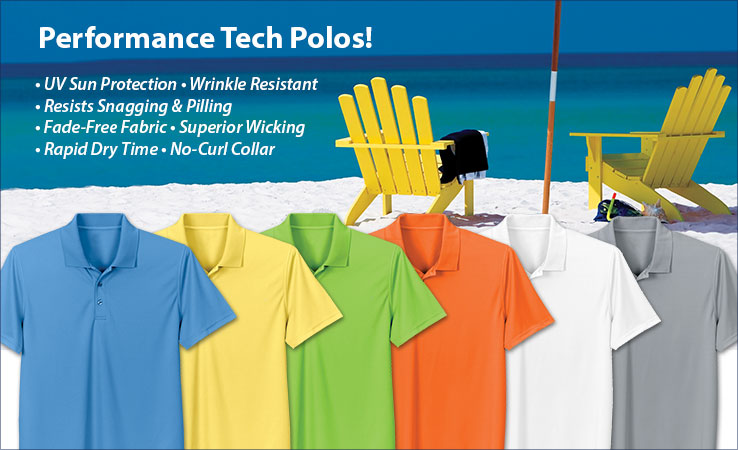 Performance Tech Polos