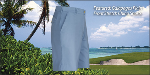Galapagos Plain Front Stretch Shorts